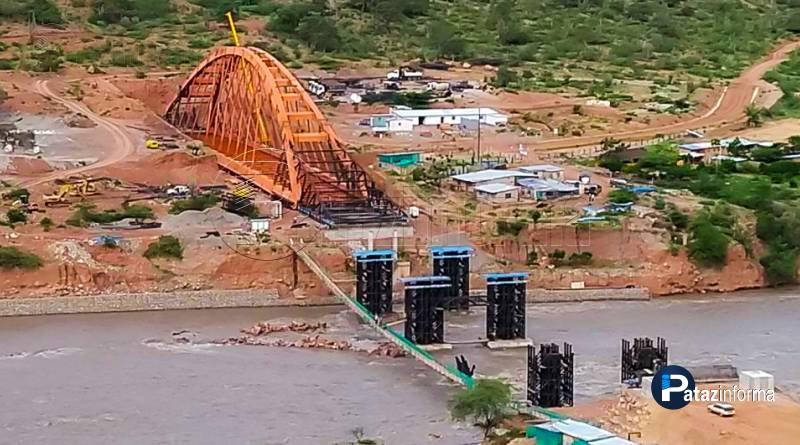 PATAZ | Finalizando montaje de estructura puente Antonio Raimondi