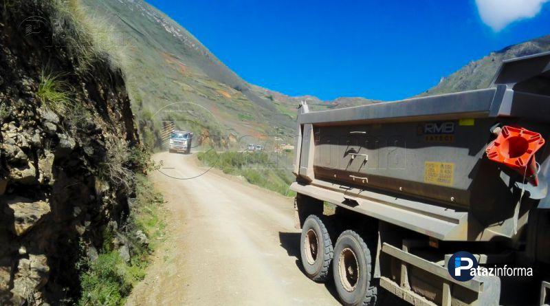 HUANCASPATA | Realizarán ensanche vía alto Challas – Mamahuaje