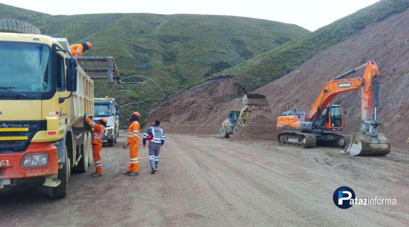 HUANCASPATA | Paralizarán trabajos de OBRAINSA vía Mamahuaje
