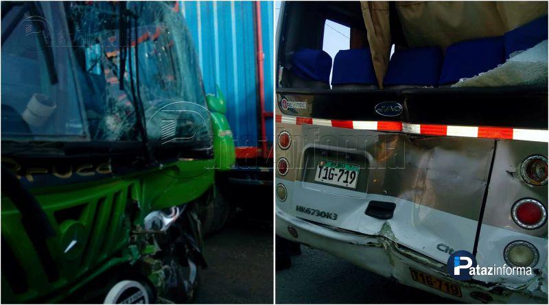 TAYABAMBA | Pasajeros de El Picaflor se llevan el susto de sus vidas