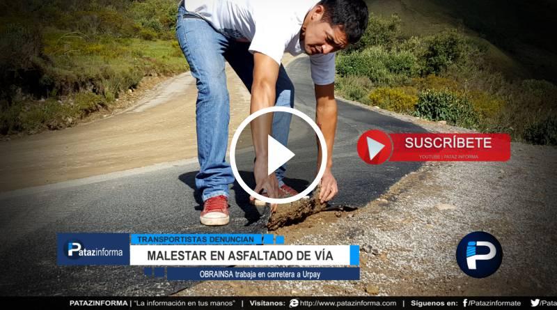 URPAY | Malestar en usuarios mientras asfalto recubre vía Miraflores