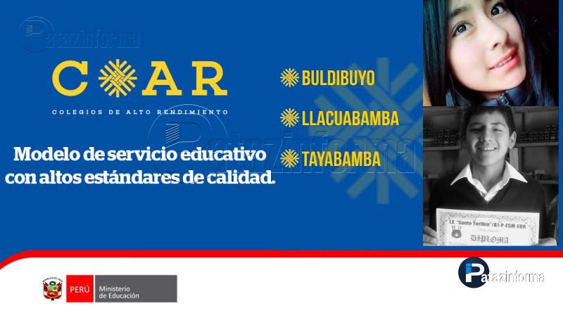 PATAZ | 5 alumnos patacinos ingresan a colegios de alto rendimiento