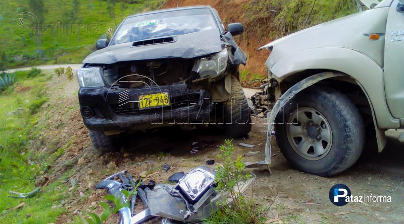 BULDIBUYO | Violento choque de vehículos vía Tayabamba – Retamas