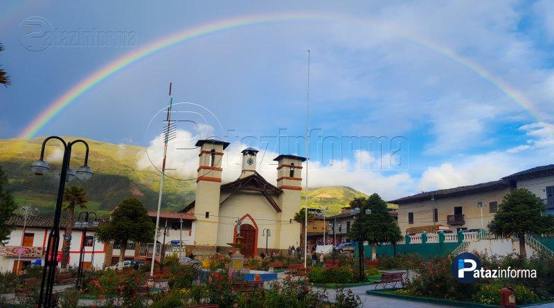 TAYABAMBA | Luego de lluvia, arco iris adornó paisaje tayabambino