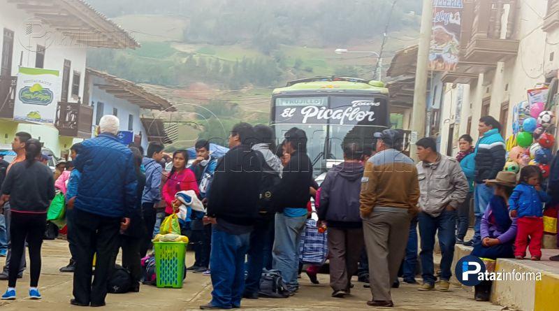 TAYABAMBA | Con normalidad llegan buses de ciudades costeras