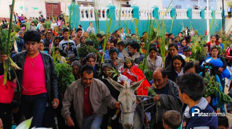TAYABAMBA | Con romería de domingo de ramos inició Semana Santa