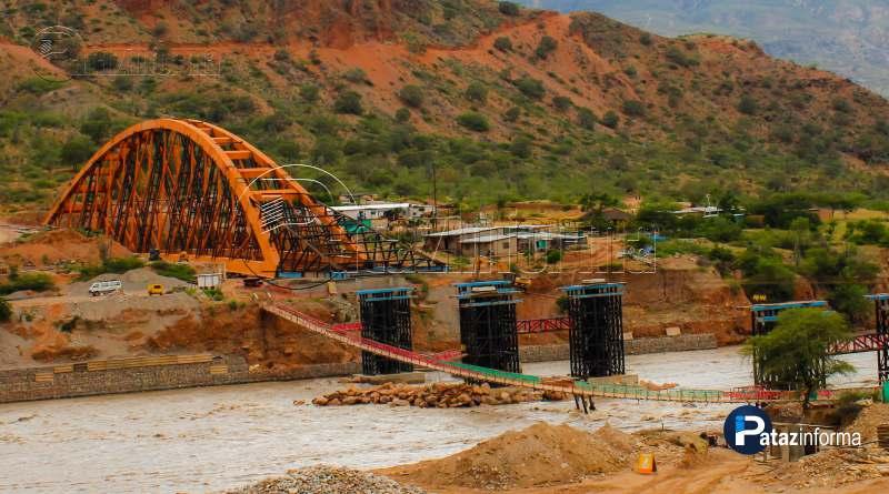 PATAZ | Puente Antonio Raimondi empezó a cruzar el río Marañón