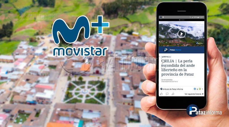 TAYABAMBA | Movistar aumentó su servicio de datos móviles a H+
