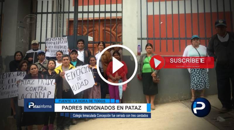 PATAZ | Padres cierran colegio pidiendo a UGEL retorno de directora