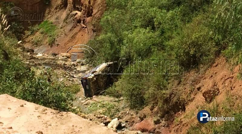 TAYABAMBA | Nuevo accidente de tránsito en la ruta hacia Huaylillas