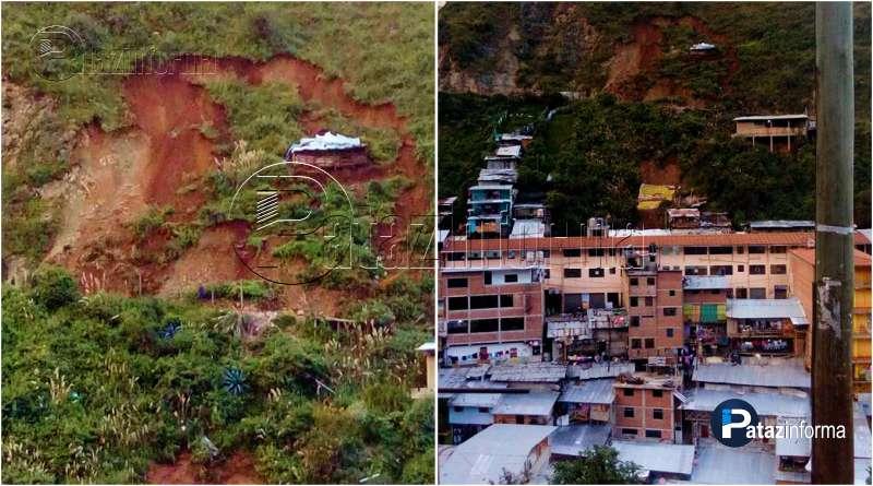 PARCOY | Emergencia, derrumbe alarma a pobladores de Retamas
