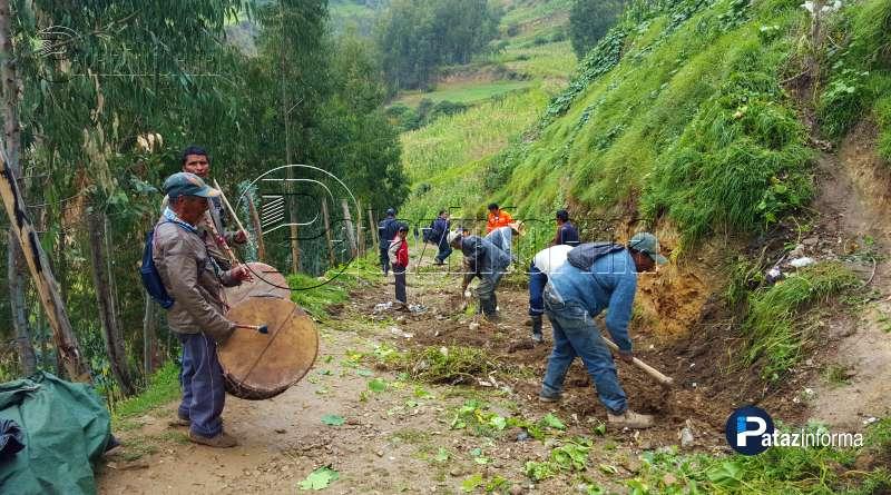 TAYABAMBA | Con chirocos y faena comunal mejoran vía a Pegoy