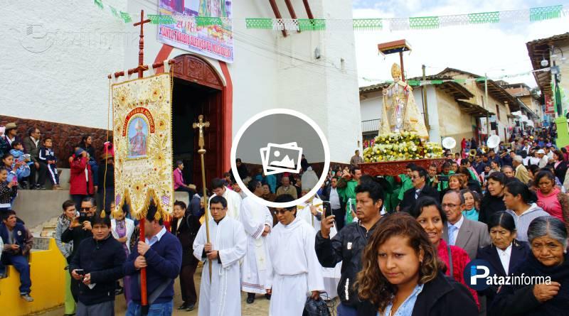 TAYABAMBA | En hombros de fieles salió en procesión Santo Toribio