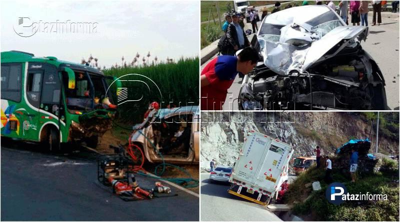 LA LIBERTAD | Mala racha en carreteras deja 3 muertos y 20 heridos