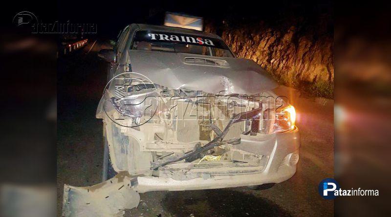 LA LIBERTAD | Camionetas protagonizan choque vía Pataz – Trujillo