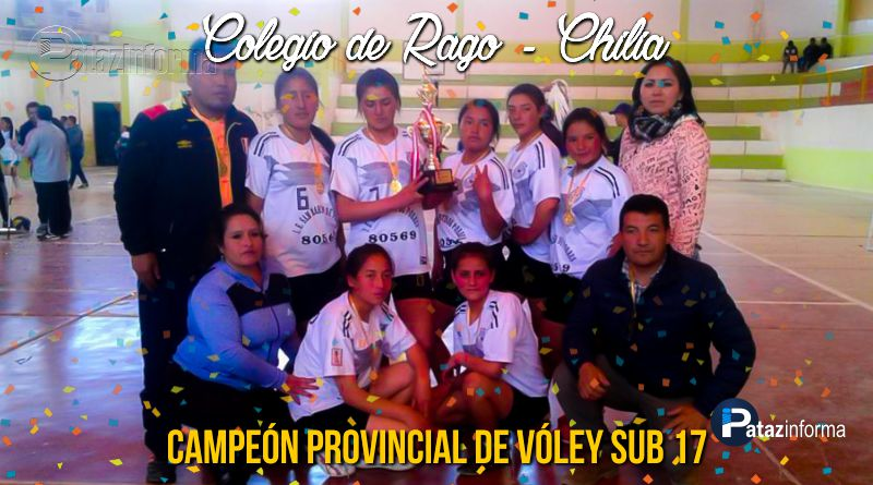 DEPORTES | Colegio de Rago – Chilia, campeón provincial vóley sub 17