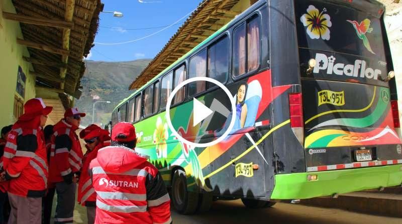 TAYABAMBA | SUTRAN supervisó y multó a las agencias de transportes