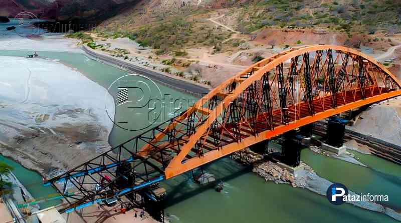 PATAZ | Lanzamiento de puente Antonio Raimondi a punto de concluir