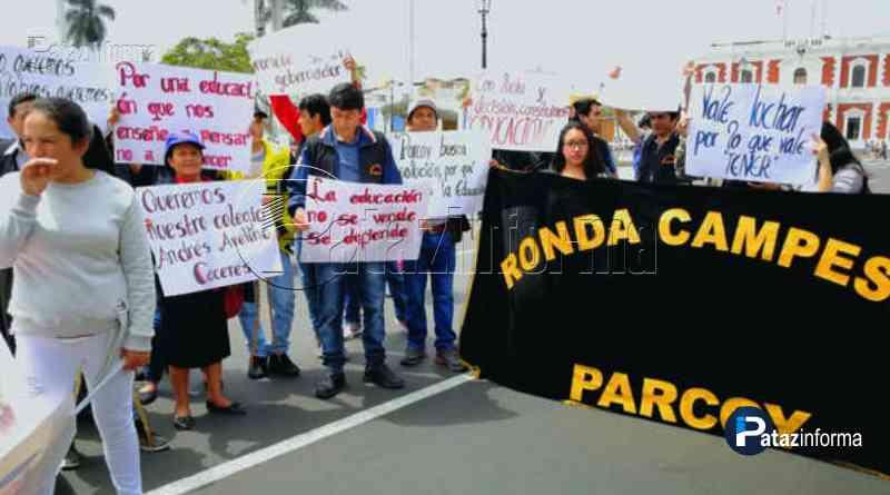 PATAZ | Exigen nuevo local para colegio afectado por lluvias en Parcoy