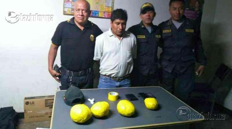 LA LIBERTAD | Policía detuvo a sujeto cuando transportaba paquetes con PBC
