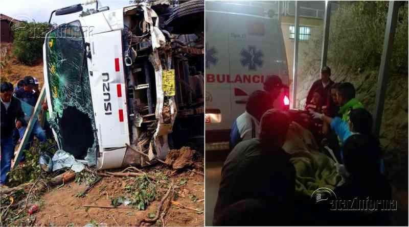 LA LIBERTAD | Despiste de camión a abismo dejó 24 heridos en sierra liberteña