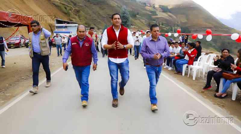 PATAZ | Inauguran 22 kilómetros de carretera cubierto con mortero asfáltico