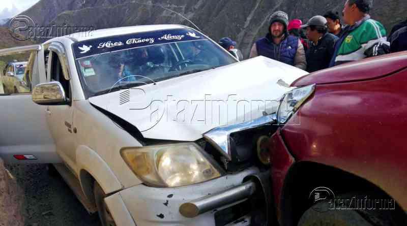 PATAZ | Violento choque frontal se registró en carretera Tayabamba – Huaylillas