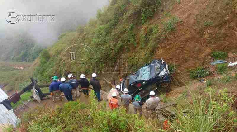 PATAZ | Camioneta sufrió aparatoso accidente de tránsito tras caer a abismo