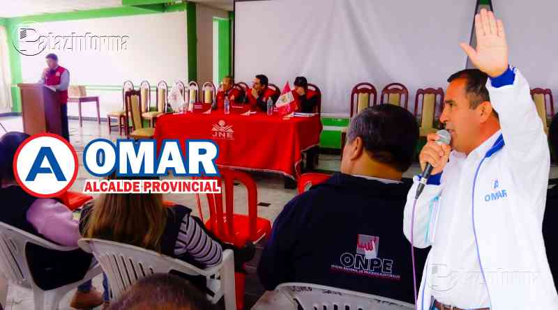PATAZ | JEE Proclamó como alcalde provincial al Profesor Omar Iparraguirre