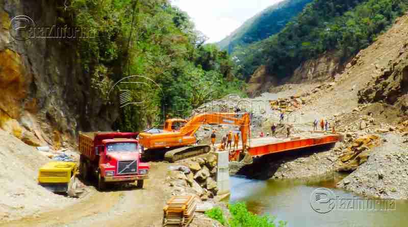 TAYABAMBA | Construyen puente Marcos para integrar a Pataz con Tocache