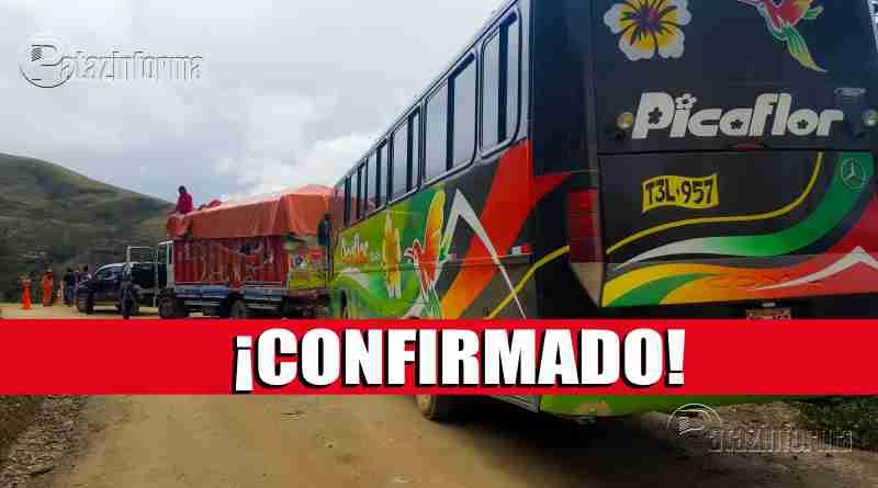 HUANCASPATA | Cerrarán pase vehicular de Tayabamba a la Costa sí o sí