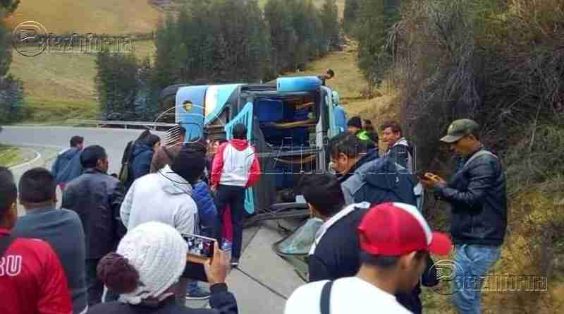 LA LIBERTAD | Ómnibus que cubre la ruta Retamas – Trujillo sufre accidente