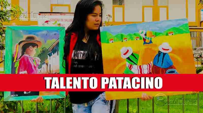 PATAZ | Joven talentosa cautiva a propios y extraños con obras de arte