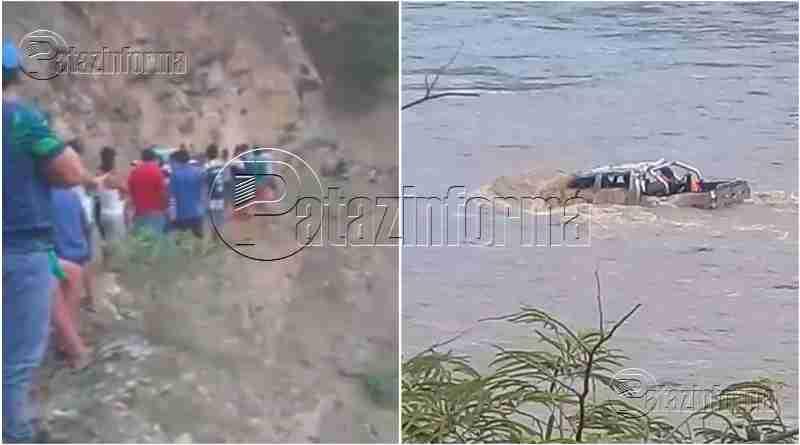 PATAZ | Recuperan un cuerpo del río Marañón, tras caída de camioneta
