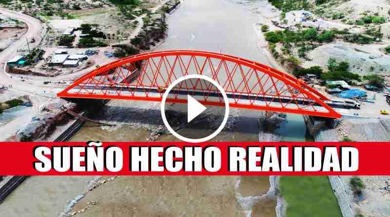 PATAZ | Sueño de ver inaugurado el puente Antonio Raimondi, una realidad