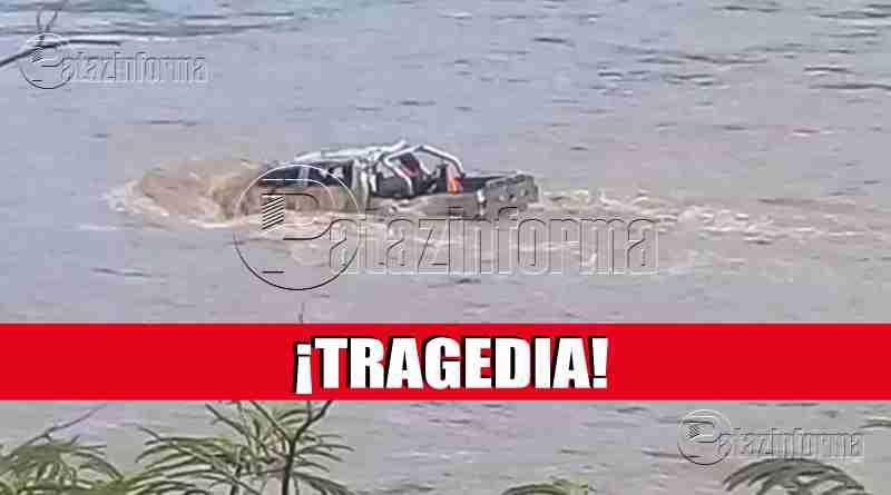 PATAZ | Camioneta con 03 pasajeros fue arrastrado por el río Marañón