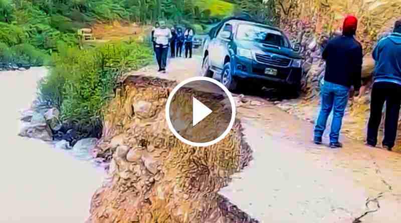 HUAYLILLAS | Lluvias aumentan caudal de río, afectando tramo carretero