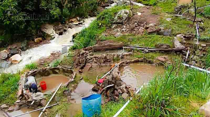 CHALLAS | 20 mil truchas mueren por deslizamiento de lodo y piedra
