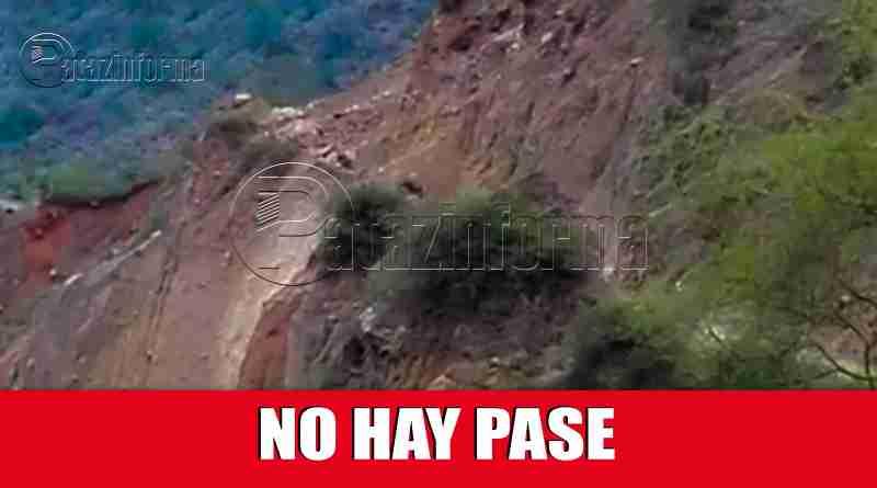 PATAZ | No hay pase de Chagual a Vijus, tramo de carretera colapsó