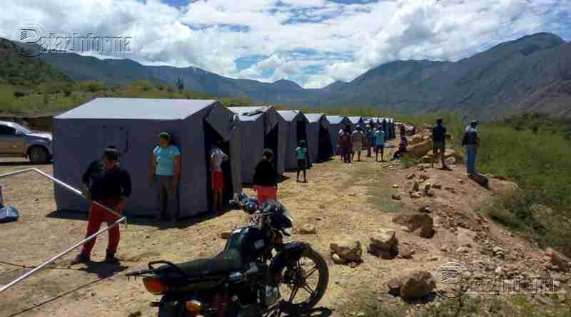 PATAZ | Pobladores de caseríos de Islan y Uchos acampan en carpas