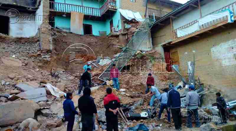 TAYABAMBA | Vivienda se vino abajo producto de las fuertes lluvias