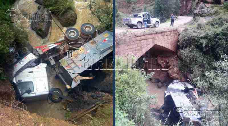 LA LIBERTAD | Camión cayó al río dejando 03 heridos en el ande