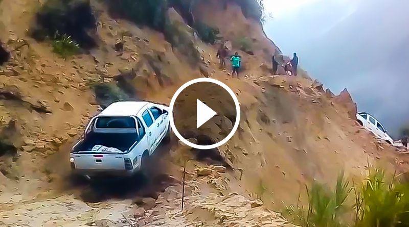 ONGÓN | Transportistas arriesgan sus vidas en la vía a Tayabamba