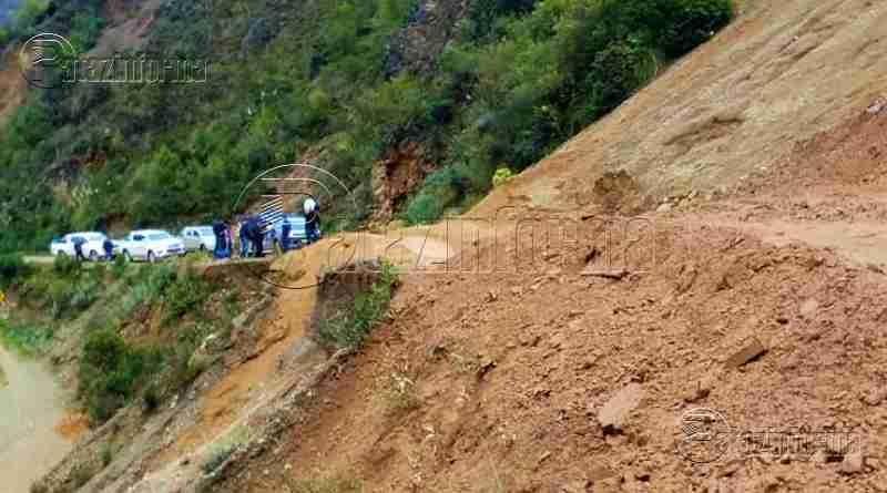 PATAZ | Deslizamientos interrumpen el pase Tayabamba – Retamas
