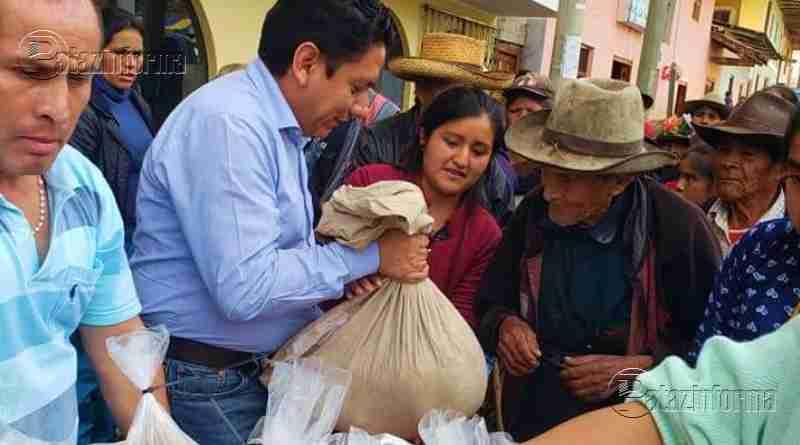 PATAZ | GRLL ayuda con alimentos a 500 familias de Taurija y Urpay