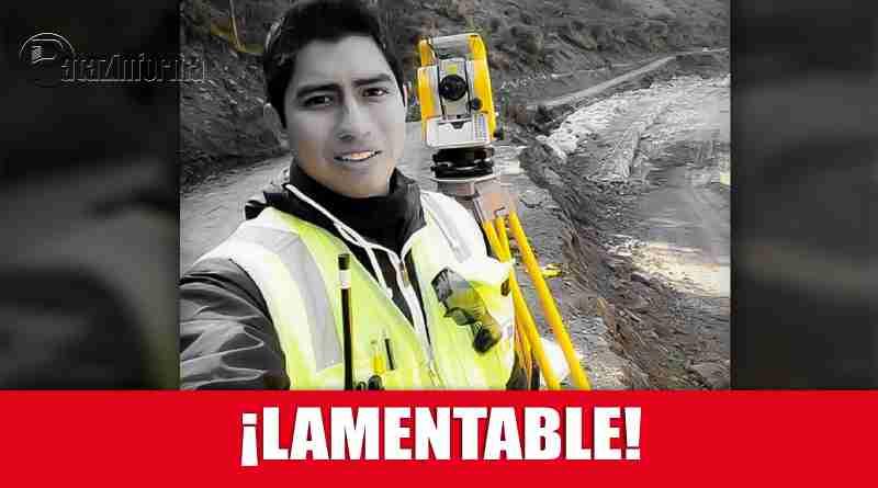 PATAZ | Joven topógrafo encontró trágica muerte en una mina