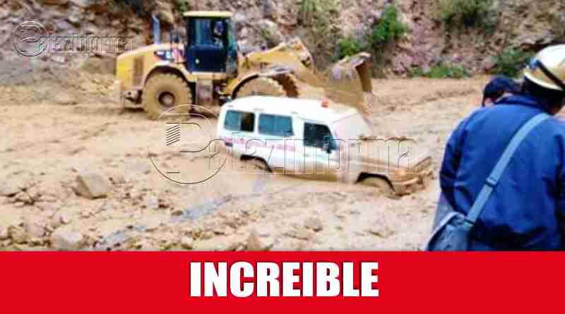 TAYABAMBA | Huaico estuvo a punto de arrastrar a ambulancia