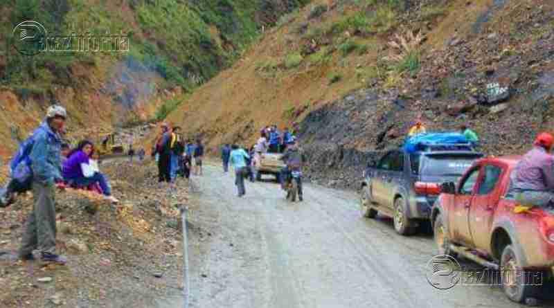 TAYABAMBA | Restablecen el tránsito vehicular por Suchimán
