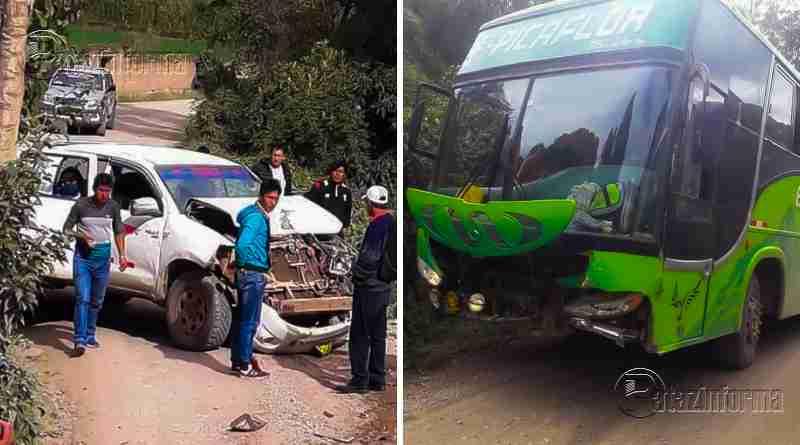 TAYABAMBA | Violento choque se registró en ruta a Retamas