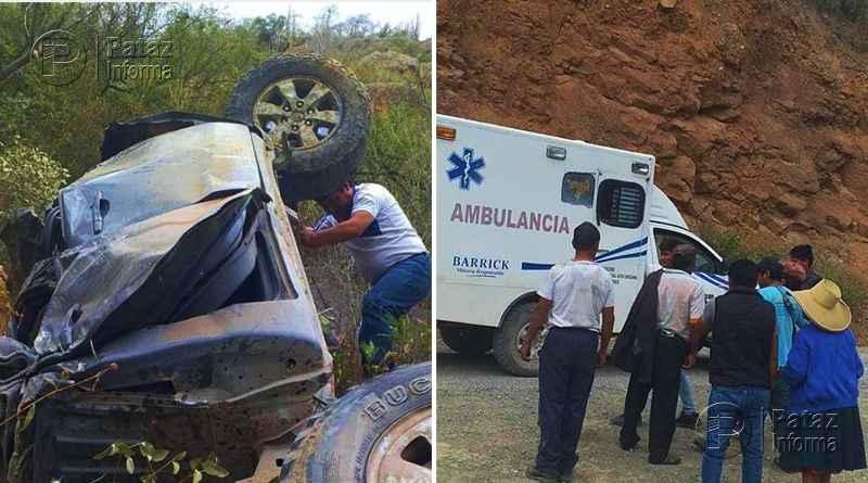Camioneta cae a abismo dejando un fallecido y 03 heridos